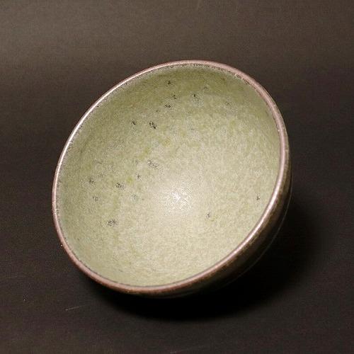 信楽焼 萌黄ライン飯碗 w311-03