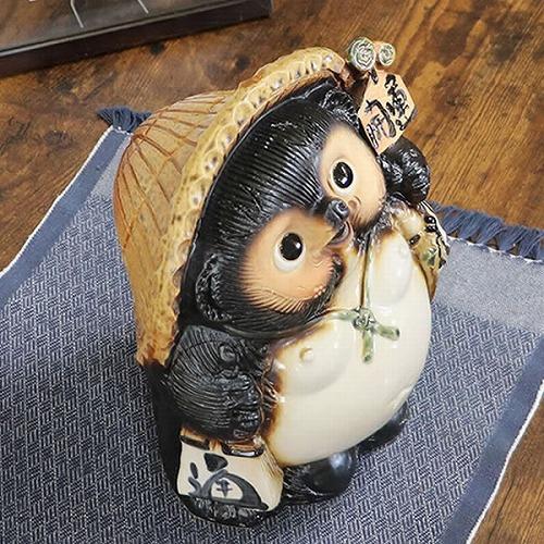 信楽焼きたぬき 9号開運狸 陶器タヌキ [ta-0113]
