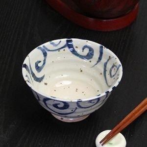 信楽焼 水面唐草(青・赤)夫婦飯碗 w309-09_10