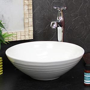 白色(小型)手洗い鉢【小型サイズ】信楽焼き手洗器!陶器の手水鉢[tr-2176]