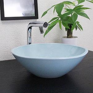 青磁手ひねり手洗い鉢【小型サイズ】信楽焼き手洗器!陶器の手水鉢[tr-2105]