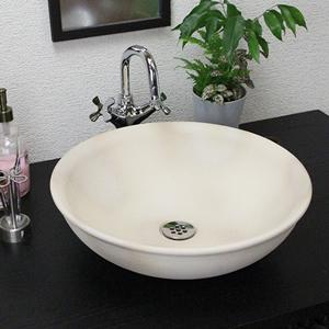 白ぼかし手洗い鉢【大型サイズ】信楽焼き手洗器!陶器の洗面ボウル[tr-4041]