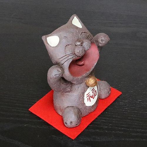 ねこ 信楽焼ネコ 招き猫 陶器 [ok-0079]