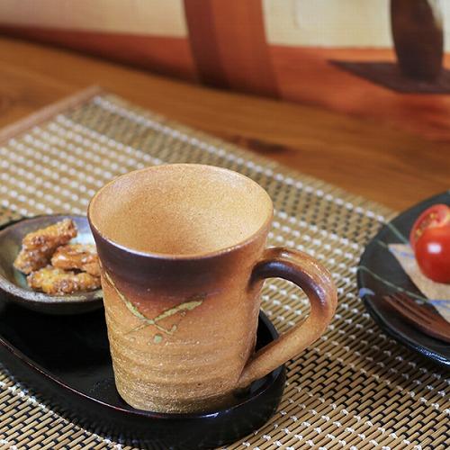信楽焼 紫香楽マグカップ スープマグ w905-12