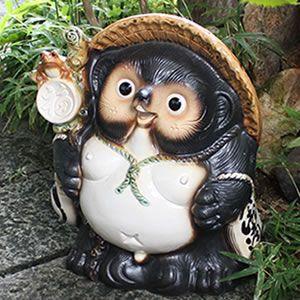 信楽焼きたぬき 15号福々狸 陶器タヌキ[ta-0062]