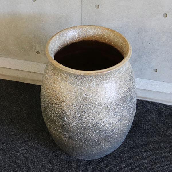 大壷 信楽焼大つぼ 花瓶 花入れ 大ツボ 陶器つぼ 大きな花瓶 やきもの [ha-0216]