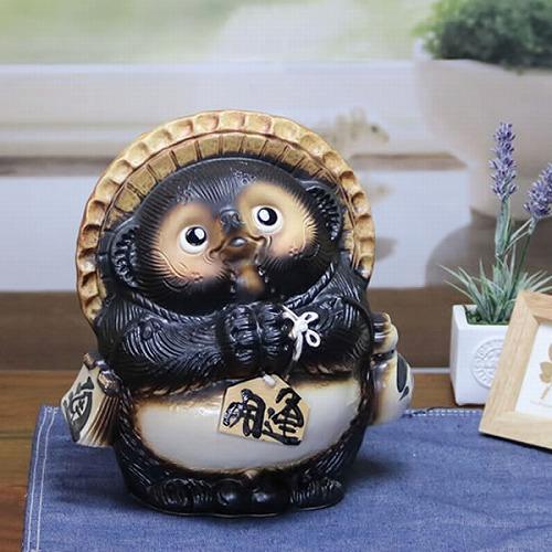 信楽焼きたぬき 7号お願い狸 陶器タヌキ[ta-0005]