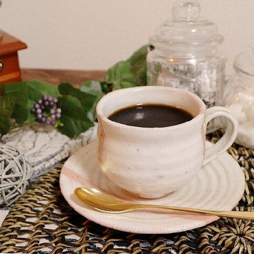 信楽焼 潮騒ライン(ピンク) 碗皿 珈琲カップ コーヒーカップ