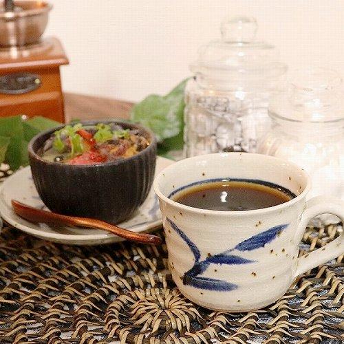 信楽焼 草紋(青) コーヒー碗皿 珈琲カップ コーヒーカップ