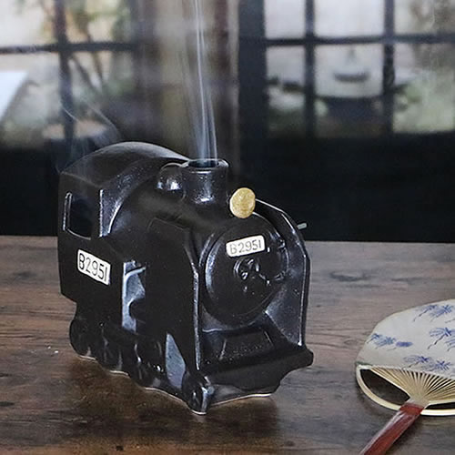 信楽焼き SL蚊遣り 蚊やり器[kr-0038]