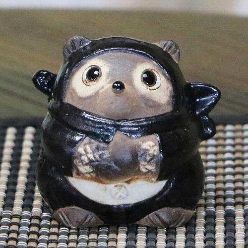 信楽焼きたぬき 忍者たぬき(小) ニンジャ狸 陶器タヌキ [ta-0299]