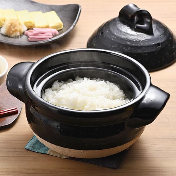 ご飯鍋 ごはん鍋 3合ごはん鍋 陶器 土鍋 信楽焼 ごはん 鍋直火 3合炊きご飯鍋 mk-024