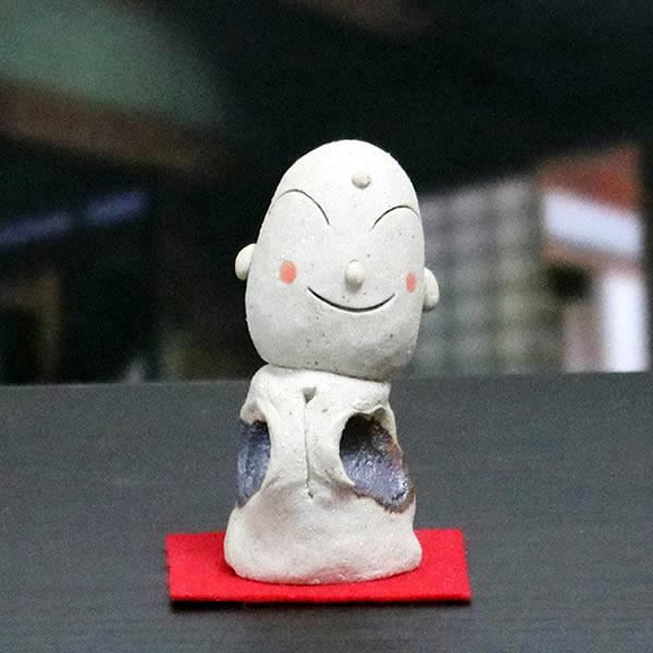 おじぞう様 わんぱくじぞう 地蔵 信楽焼 お地蔵さま 地蔵菩薩 陶器  [me-0014]
