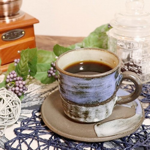 信楽焼 青空 コーヒー碗皿 珈琲カップ コーヒーカップ