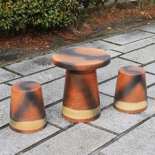 16号テーブルセット 陶器テーブル 信楽焼