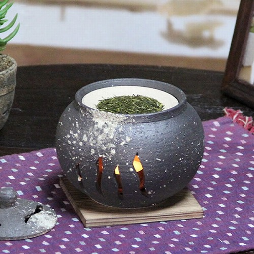 窯肌茶香炉 信楽焼き茶香炉[ty-0002]