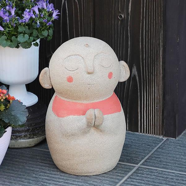 おじぞう様 丸地蔵(中) 信楽焼 お地蔵さま 地蔵菩薩 じぞう様 陶器 [me-0017]