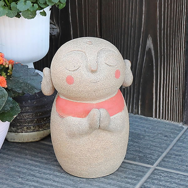 おじぞう様 丸地蔵(小) 信楽焼 お地蔵さま 地蔵菩薩 じぞう様 陶器 [me-0018]