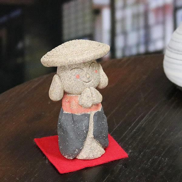 おじぞう様 禅地蔵 信楽焼 お地蔵さま 地蔵菩薩 じぞう様 陶器 [me-0019]
