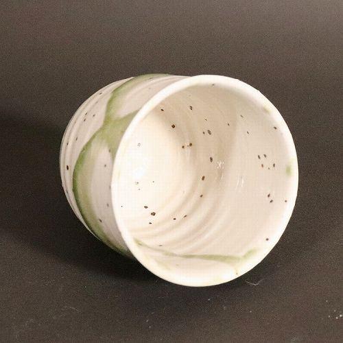 信楽焼 緑光(大)湯呑み w313-01