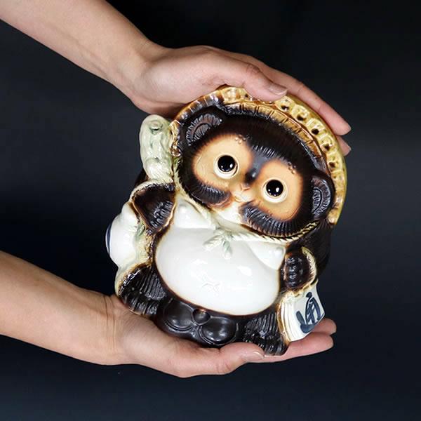 信楽焼きたぬき 6号福タヌキ 陶器タヌキ 狸置物 [ta-0351]
