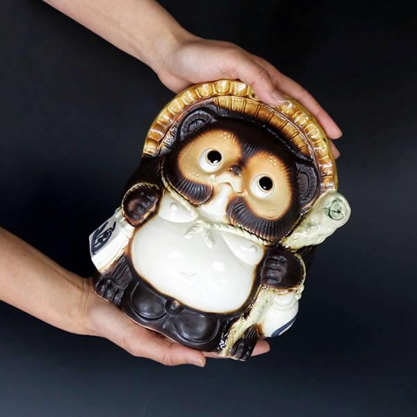 信楽焼きたぬき 7号福タヌキ 陶器タヌキ 狸置物 [ta-0352]