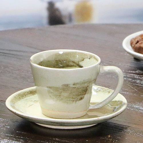信楽焼 雲海 コーヒーカップ