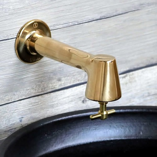 壁水栓 横水栓 【手洗い鉢用の水栓】 蛇口 [se-0031]