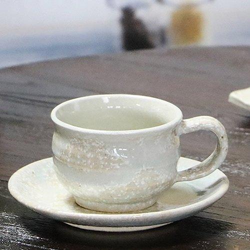 信楽焼 雪の華 コーヒーカップ