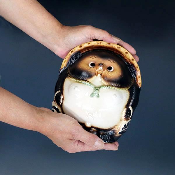 信楽焼きたぬき 6号丸福々狸 陶器タヌキ やきもの 狸 しがらきやき [ta-0332]