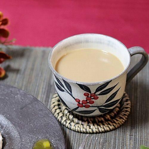 信楽焼 南天(黒)マグカップ w304-01