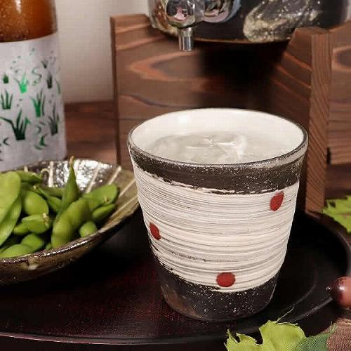 信楽焼 天の川(赤) 焼酎カップ