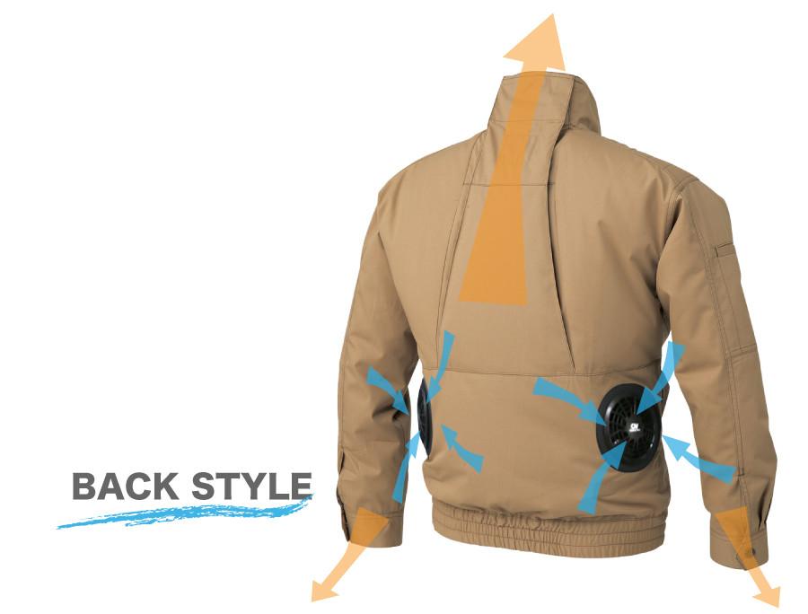 Dickies( ディッキーズ  )  空調風神服エアマッスルジャケット<br>(ファン、バッテリーは付いていません)