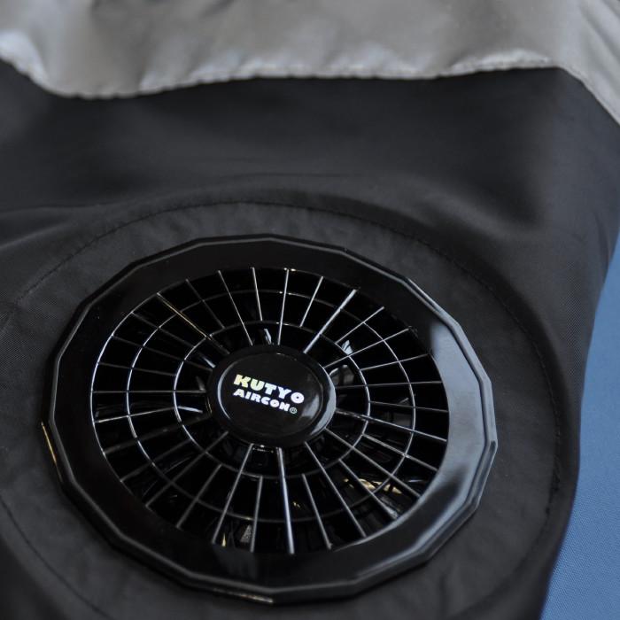 安全空調べスト「Fan!ダフル」     <br>すぐに使える3点フルセット(ベスト、ファン、バッテリー)