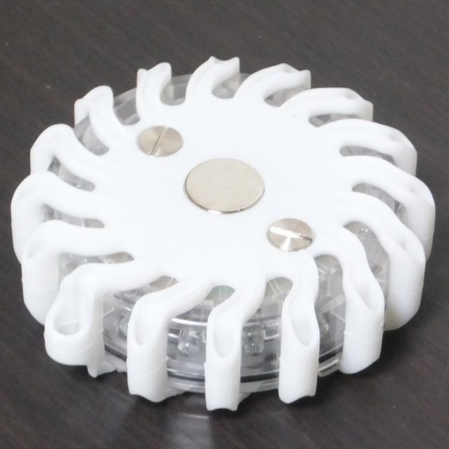 LED警告灯<白色>(9パターン発光)【10個セット】<br>マグネット・充電器付き