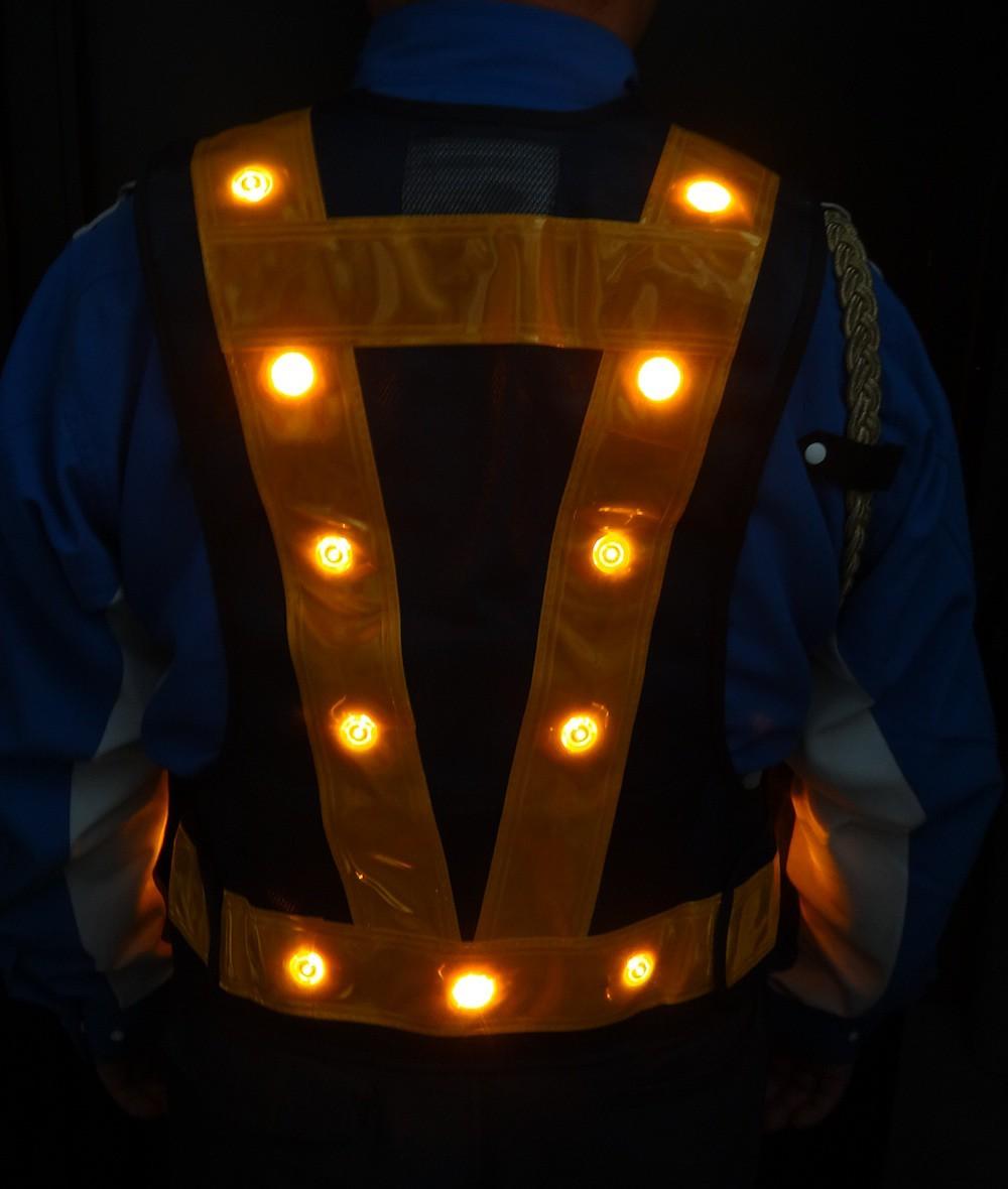 LED付多機能ベスト 『光るんです!』LED24個付き 全7色展開