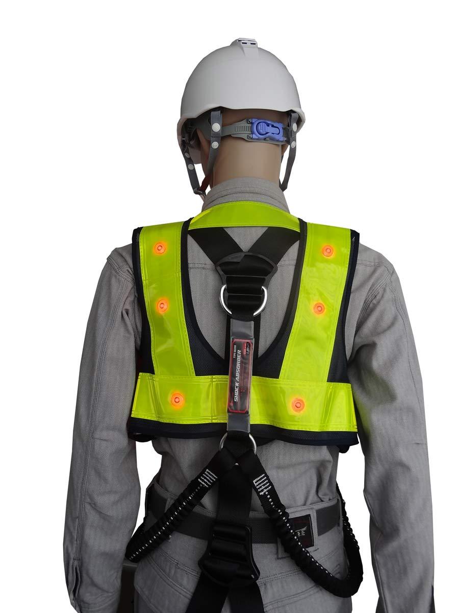 フルハーネス用LED安全ベスト『装着できるんです』
