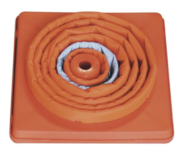 伸縮式三角コーン62cm<オレンジ> &ウエイトセット