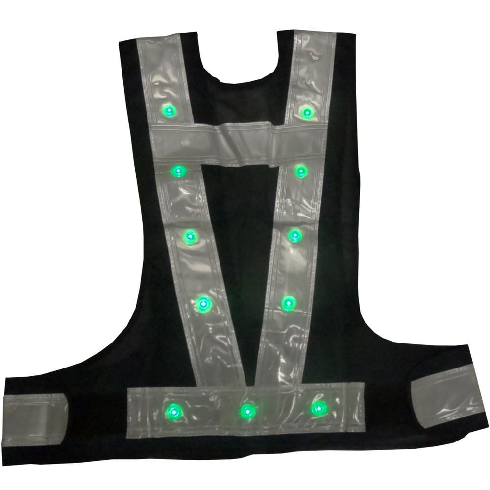 LED 安全ベスト 『光るんです!』2色点灯・点滅タイプ前/赤・後/青LED 点灯・点滅タイプ前/赤・後/緑LED