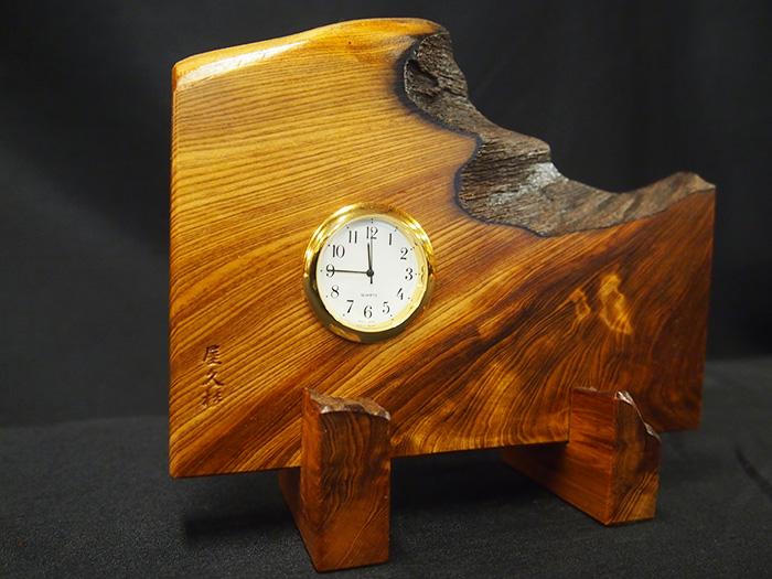 屋久杉良杢自然置き時計541