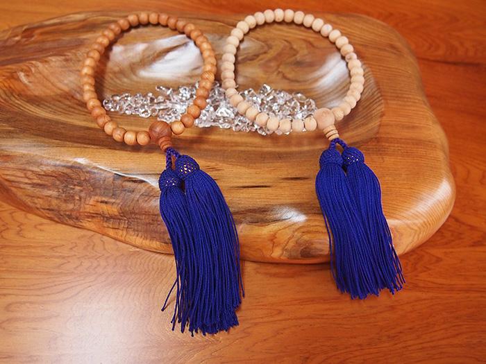 屋久杉高級念珠(数珠)女性用(塗装・無塗装)
