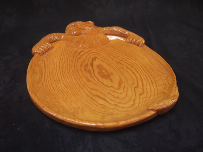 屋久杉盛り皿トレイ(猿)459