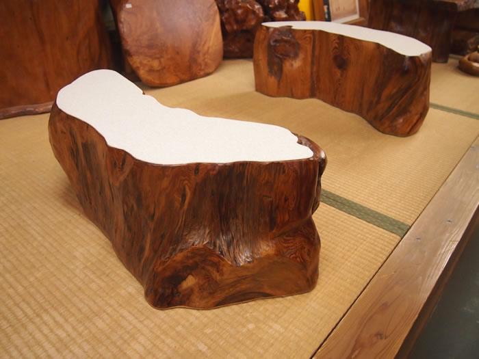 屋久杉上杢自然座卓テーブル(ダイニングテーブル)136