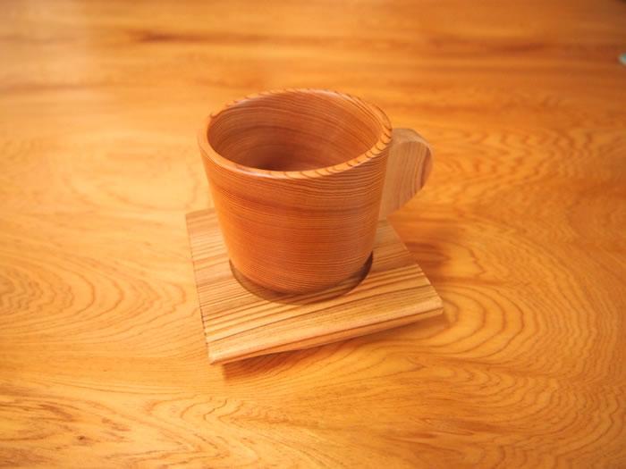 屋久杉コーヒーカップ(ソーサー付き)