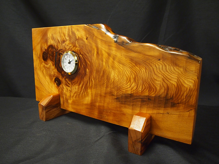 屋久杉虎杢自然置き時計549
