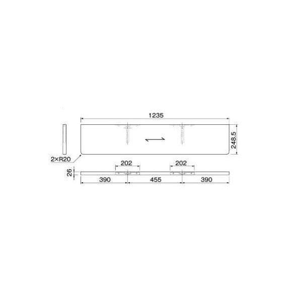大建工業 ねこルート W1235 両側R ME6301-** 【受注生産品】