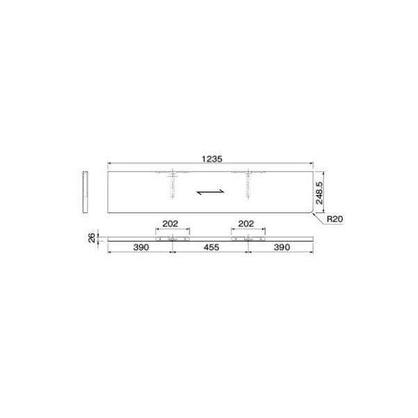 大建工業 ねこルート W1235 右側R ME6301-**R 【受注生産品】