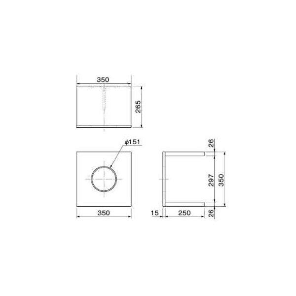 大建工業 ねこボックス 単独用 W350 ME6401-** 【受注生産品】