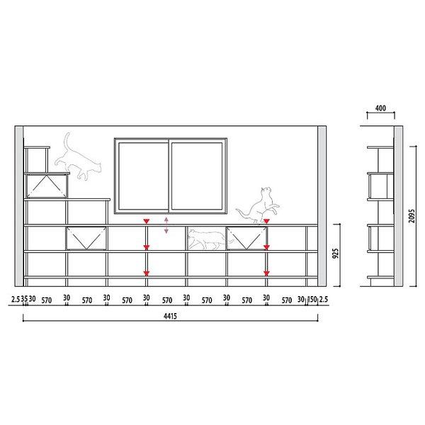 大建工業 ねこシェルフ プラン� cat_shelf_plan1
