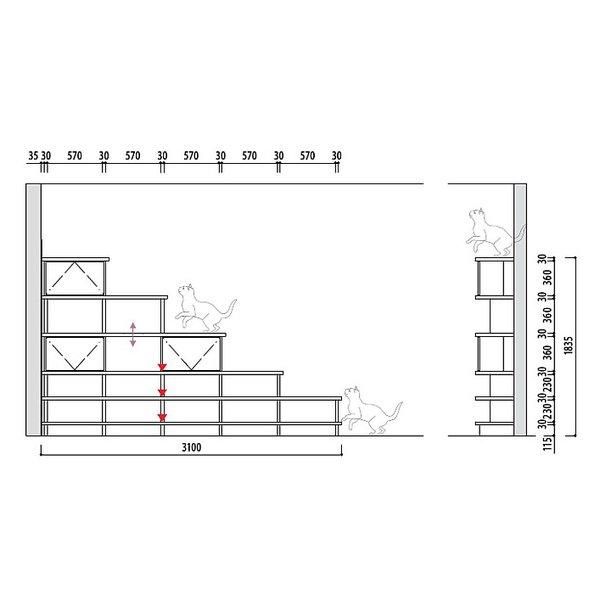 大建工業 ねこシェルフ プラン� cat_shelf_plan6